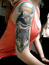 wolf half sleeve abstract design idea for and