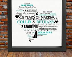 15th wedding anniversary gift 15 year wedding anniversary gift wedding ideas