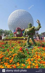 epcot center orlando florida buzz lightyear topiary and flower