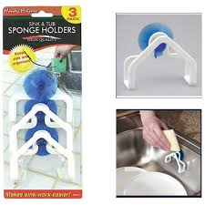 Kitchen Sink Scrubber Holder by Amazon Com 3 Pc Sink Tub Sponge Holders Work Easy Suction Cup
