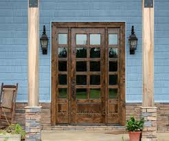 Patio Doors With Venting Sidelites by Rustic French Doors With Sidelights Sw 68