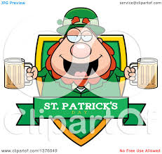 royalty free rf clipart illustration of a chubby leprechaun with