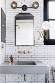 White Subway Tile Bathroom Ideas Small Bathroom Ideas In Black White U0026 Brass Cococozy