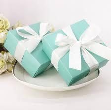 jewelry box favors aliexpress buy 100 x blue square wedding favors
