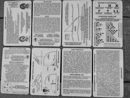 esee kitchen knives esee knives survival card set plastic 4 card set for survival