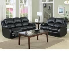 Black Leather Sofa Set Dreamfurniture Com 9700 Cranley Recliner Sofa Set Black