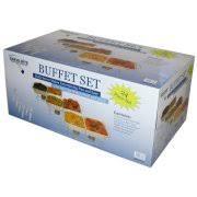 serve rite 24 piece buffet serving set walmart com