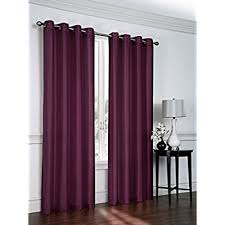 Plum Faux Silk Curtains Window Elements Faux Silk Wide 108 X 84 In