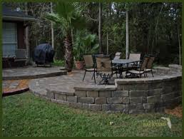 Raised Patio Pavers Jacksonville Backyard Hardscapes Landscapes Ecoscapes