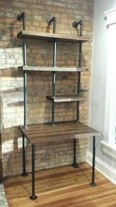 Industrial Standing Desk by Desk Butcher Block And Steel Pipe Standing Desk By Soilandoak On