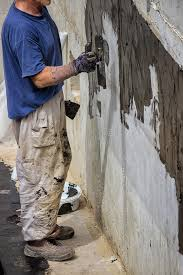exterior basement wall waterproofing 3 stock image image of