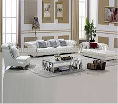 Chesterfield White Leather Sofa White Chesterfield Leather Sofa Coffee Table Living Room