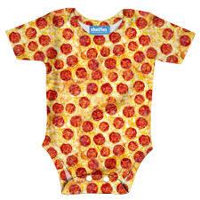 pizza invasion baby onesie shelfies
