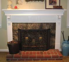Ideas For Fireplace Facade Design Interior Archaic Farm Living Room Decoration Using Aged Brick
