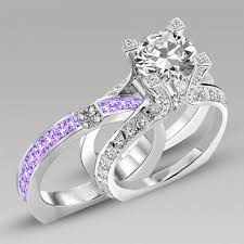 engagement and wedding ring set best 25 purple wedding rings ideas on amethyst