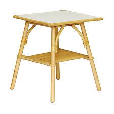 bout de canapé alinea bout de canapé en rotin avec plateau carré gris kano meubles