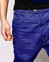 2015 high quality mens surplus jeans blue color drop crotch name
