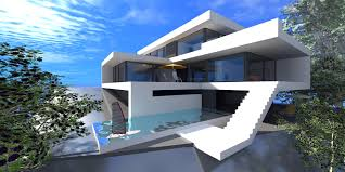 luxury beach house with cantilevered pool image extraordinary