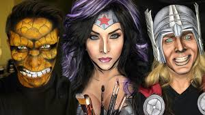 makeup artist book ka pow makeup artist transforms into comic book characters
