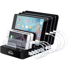charging station organizer tapiona 96w 19 2a 8 port usb smart charging station charger