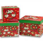 dw g79 wholesale round christmas apple box packaging with lids