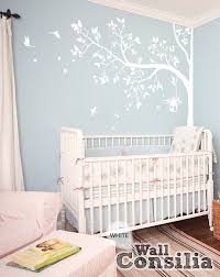 Tree Nursery Wall Decal White Tree Wall Decal Nursery Wall Decor White Wall Mural