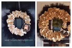 Halloween Wreath Supplies by Two Junk Chix Halloween Glam Wreath