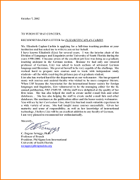 Template For Recommendation Letter by 7 Teacher Recommendation Letter Template Sample Of Invoice