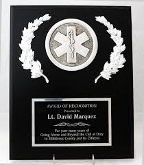 retirement plaque emergency responder award plaques beautifully engraved