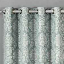 Aqua And Grey Curtains 60 Aryanna Classic Floral Curtains Jacquard Grommet Panels