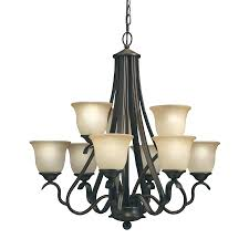 Bronze Chandeliers Clearance Ebay Lighting Chandelier Allen Roth Eastview 9 Light Dark Oil