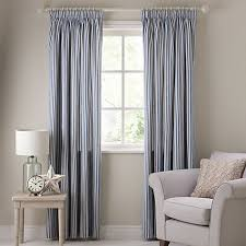 Ticking Stripe Curtains Buy Lewis Ticking Stripe Lined Pencil Pleat Curtains