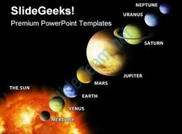 google presentation solar system template solar system science