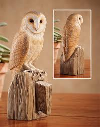 randal martin open edition wood sculpture barn owl wings