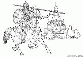 coloring page knight crusade