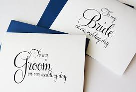 card to groom from on wedding day to my on our wedding day to my groom on our
