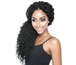 Faux by Mane Afri Naptural Crochet Loop Braid Curled Faux Locs 18 Inch