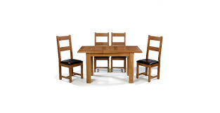 Oak Extending Dining Table And 4 Chairs Emsworth Oak 120 150 Cm Extending Dining Table And 4 Chairs
