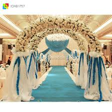 china latest supplier blue polyester fiber wedding decoration