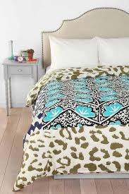 thinking leopard patchwork duvet cover i urban outfitters