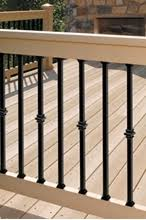 decks com deckorators arc deck balusters for deck railings
