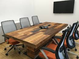 Narrow Conference Table Reclaimed Wood Conference Table With Chairs Homyxl Within Ideas 1
