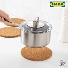 ikea sav cuisine ikea cork mat trivet kitchen worktop saver pot and pan cooking stand