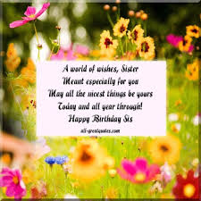 Happy Birthday Wishes Message Birthday Wishes Messages For A Best Sister Really Good Life Quotes