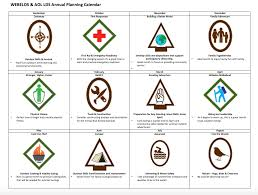 arrow of light scouting adventure annual planning calendar for webelos arrow of light ranks for lds or