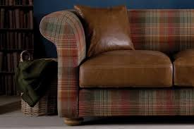 Leather Sofas Uk Sale by The Grandad Highland Wool And Leather Sofa By Indigo Furniture