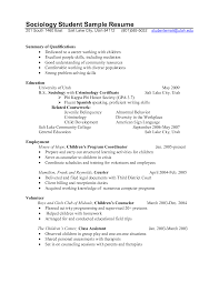 Sample Counselor Resume Professional Counselor Resume Sociology Student Sample