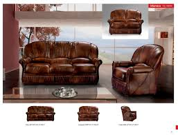 Leather Livingroom Furniture Monica Full Leather Leather Classic 3 Pcs Sets Living Room Furniture
