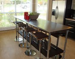 counter height work table kitchen stainless steel kitchen prep table stainless steel work