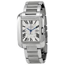 stainless steel cartier bracelet images Cartier tank anglaise silver dial stainless steel bracelet men 39 s jpg